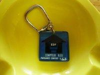アンティーク EDF 電力会社のフレンチキーホルダー