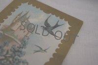1900年初頭 フランスアンティーク 勿忘草とツバメのポストカード