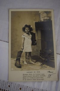 1903年 フランスアンティーク クリスマスポストカード
