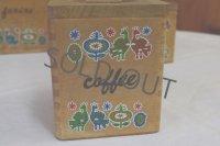 アンティーク フランス ウッドキャニスター Coffee/Cafe