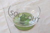 イギリス ヴィンテージのグリーンのデザートグラス