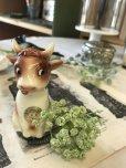 画像1: ヴィンテージ キュートな表情の牛さん ドイツソルト陶器 (1)